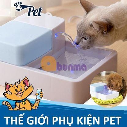 Picture of Khay uống nước cao cấp cho Pet (Chó, mèo) có đèn led,  phun, lọc