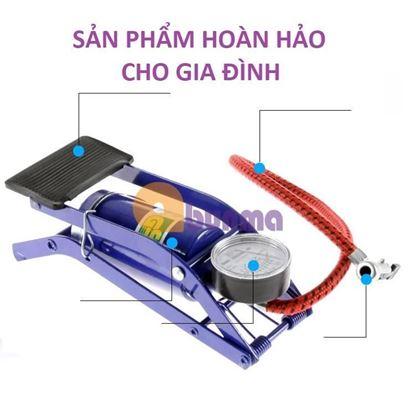 Picture of Máy bơm lốp xe hơi, ô tô, xe máy đạp chân