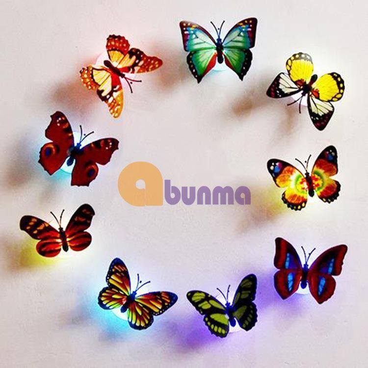 Đèn led bươm bướm dán tường, đèn phát sáng trang trí trẻ em
