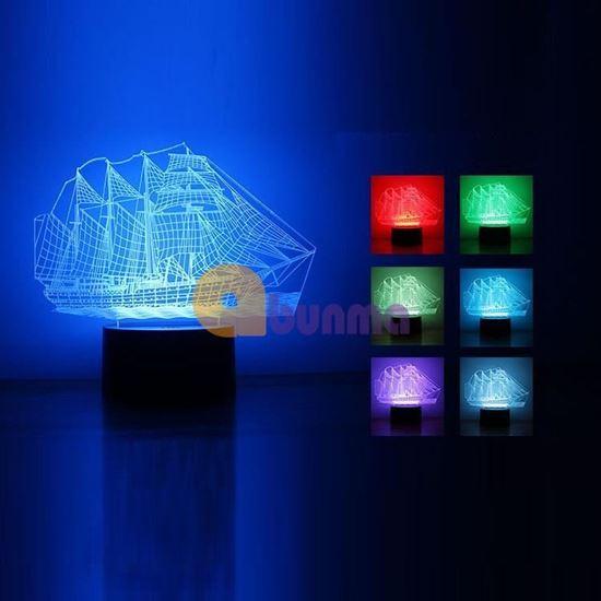 Picture of Đèn ngủ tàu biển 7 màu (Cướp biển vùng Caribbe)