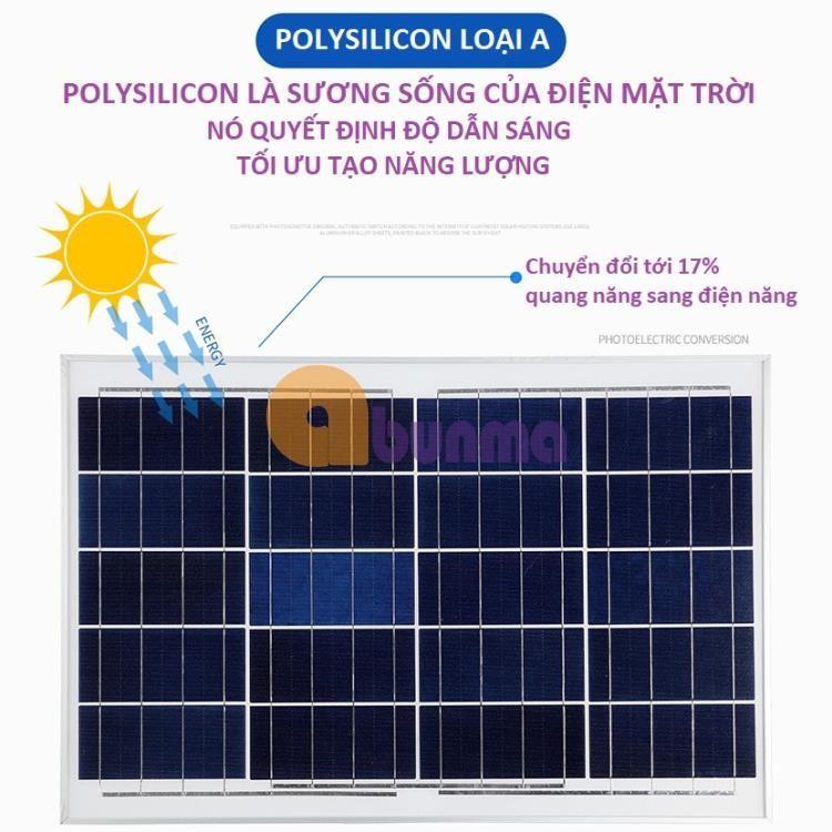 Đèn led năng lượng mặt cao cấp, Pin li-ion