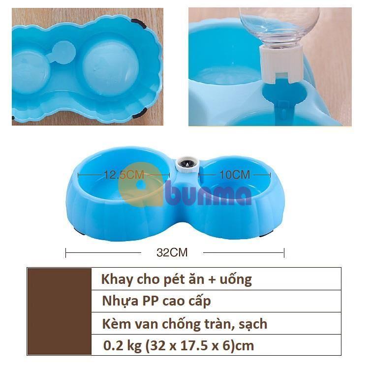 Khay ăn và uống nước bán tự động cho Pet ( Chó, mèo)