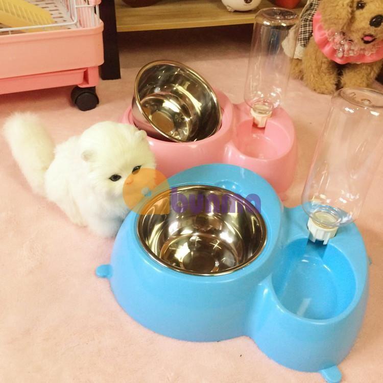 Khay ăn và uống nước bán tự động cho Pet ( Chó, mèo) - Cao cấp