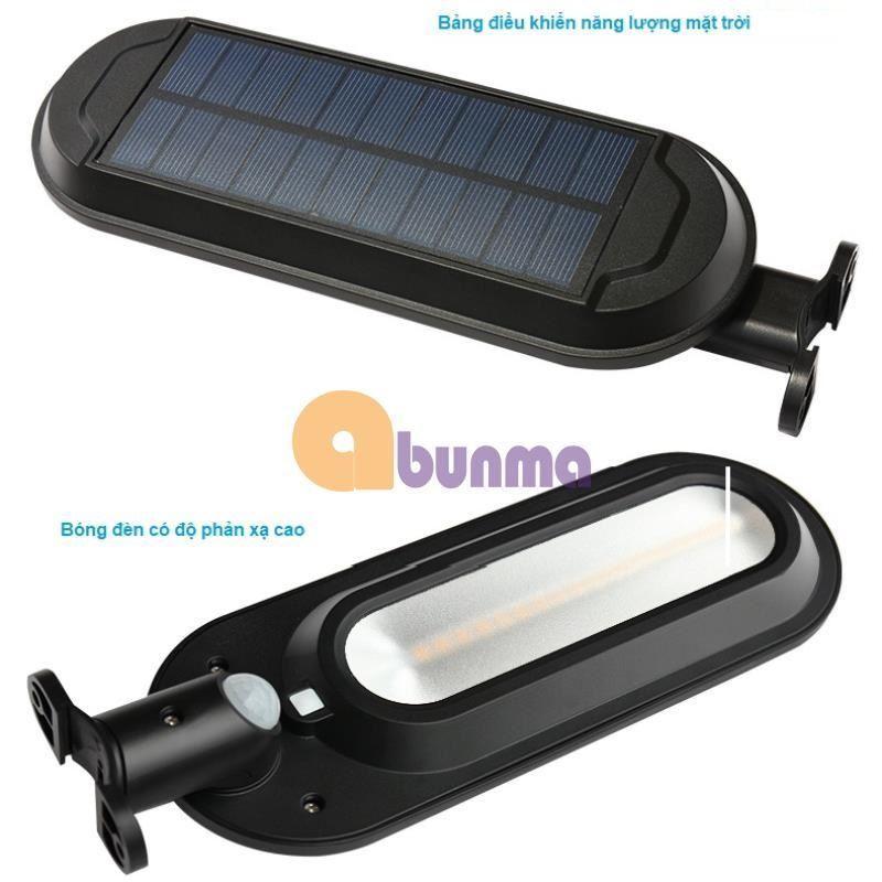 Đèn  led năng lượng mặt trời, tích hợp cảm biến bật tắt dùng ngoài trời 18 LED