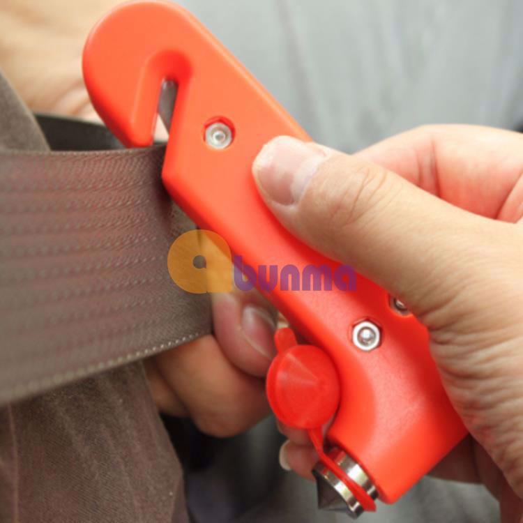 Búa đập kính thoát hiểm,  kèm dao cắt dây an toàn cho xe ô tô
