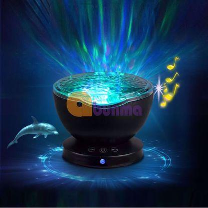Picture of Đèn ngủ sóng biển, Loa âm thanh 3D, Máy chiếu sóng biển