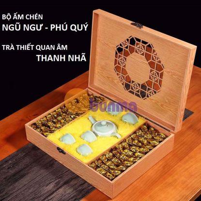 Picture of Bộ ấm trà Ngũ Ngư Phú Quý + 500g Trà Thiết Quan Âm (Oo long) Phúc Kiến