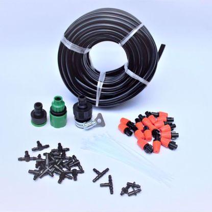 Picture of Bộ Kit 16 Đầu béc phun sương 10lit đầy đủ dây, phụ kiện TX-DIY-041, Bộ tưới vườn, hoa lan, rau tự lắp DIY